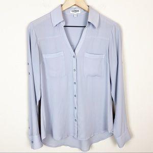 EXPRESS The Portofino Shirt Quarter Sleeve S Grey